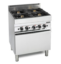 Mastro Gasfornuis 4 branders 2x 3,6 + 2x5kW/h | Met elektrische oven 3,96 kW/h | 700x650x850(h)mm
