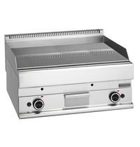 Mastro Bakplaat/Grillplaat glad chroom | 11,4 kW/h | Bakplaat 695x520(h)mm | 700x650x280(h)mm