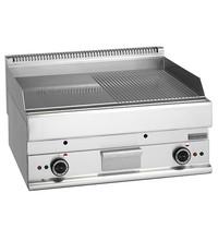 Mastro Bakplaat/Grillplaat glad/gegroefd staal | 9 kW/h | Bakplaat 695x520mm | 700x650x280(h)mm