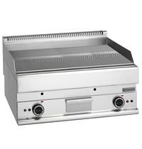 Mastro Bakplaat/Grillplaat glad chroom | 9 kW/h | Bakplaat 695x520mm | 700x650x280(h)mm