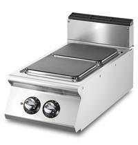 Mastro Kookplaat elektrisch Top | 5,2 kW/h | 2 vierkante platen | 400x730x250(h)mm