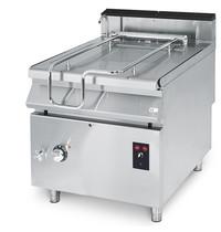 Mastro Braadpan elektrisch RVS 60L | 10 kW/h | Gemotoriseerd kantelsysteem | 800x730x870(h)mm
