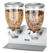 Bartscher Ontbijtgranendispenser dubbel 2x 3,5L   Geschikt voor wandmontage   360x170x395(h)mm