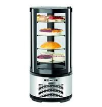 Bartscher Gebaksvitrine  | 100 liter | 230V | 4 glazen planchetten | Geforceerd | 495x495x1065(h)mm