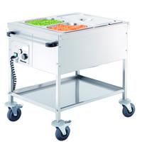 Bartscher Voedseltransportwagen elektrisch DV | 2x 1/1 GN | 1 kW/h | 650x820x855(h)mm