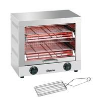 Bartscher Toaster/Kwarts gratineeroven | 3 kW/h | 2 etages | 400x370x405(h)mm