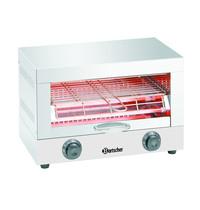 Bartscher Toaster - Gratineeroven | 1,7 kW/h | 1 etage | 400x370x285(h)mm