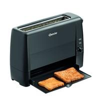 Bartscher Toaster TS20Sli zwart   1,3 kW/h   1 sleuf   405x152x268(h)mm