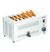 Bartscher Toaster TS60 RVS   2,5 kW/h   6 sleuven   405x265x220(h)mm