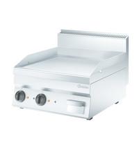 Bartscher Bakplaat/Grillplaat 650 B600 | Bakplaat glad (b)596x(d)555mm | 7,8 kW/h | 600x650x295(h)mm
