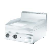 Bartscher Bakplaat/grillplaat 650 B600 | Bakplaat 1/2 Geribbeld 1/2 glad (b)596x(d)555mm | 7,8 kW/h | 600x650x295(h)mm