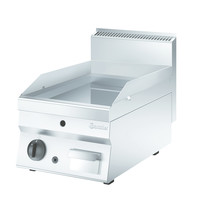Bartscher Bakplaat/Grillplaat 650 400G-G | Bakplaat glad (b)395x(d)515mm | 6,5 kW/h | 400x710x490(h)mm