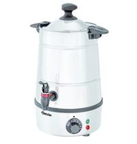Bartscher Heetwaterdispenser zilver/zwart 5L | 1,8 kW/h | 280x265x400(h)mm