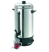 Bartscher Heetwaterdispenser zilver/zwart 10L | 2,5 kW/h | 213x213x505(h)mm
