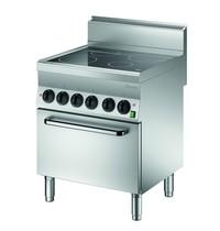 Bartscher Fornuis elektrisch 4 kookplaten | 2x 2,5 - 1x 1,8 - 1x 1,2 kW/h | Elektrische oven 4,2 kW/h | 700x650x870(h)mm
