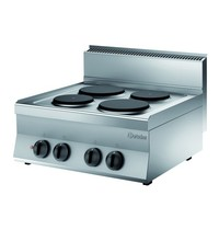 Bartscher Fornuis elektrisch 4 kookplaten | 8,2 kW/h | 700x650x295(h)mm