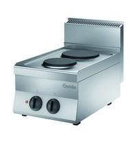 Bartscher Fornuis elektrisch 2 kookplaten | 4,1 kW/h | 400x650x295(h)mm