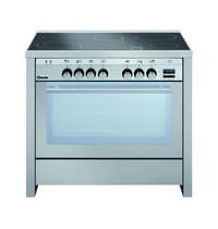 Bartscher Fornuis keramisch elektrisch 5 kookpitten | 0,7/2,1 - 1,4/2,2 - 2,2 - 1,2 kW/h | Elektrisch oven 100L 2,5 kW/h | 900x600x870(h)mm