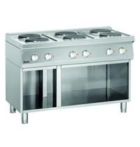 Bartscher Fornuis elektrisch 6 kookplaten | 6x 2,6 kW/h | 1200x700x850(h)mm