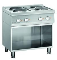 Bartscher Fornuis elektrisch 4 kookplaten | 4x 2,6 kW/h | 800x700x850(h)mm