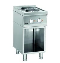 Bartscher Fornuis elektrisch 2 kookplaten | 2x 2,6 kW/h | 400x700x850(h)mm