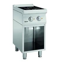 Bartscher Fornuis elektrisch keramisch  ZO 00 2 kookplaten   2x 2,3 kW/h   400x700x850(h)mm