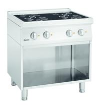 Bartscher Fornuis elektrisch keramisch ZO 00 4 kookplaten   4x 2,3 kW/h   Open onderstel   800x700x850(h)mm