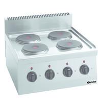 Bartscher Fornuis elektrisch TA 4 kookplaten   4x 2kW/h    600x600x290(h)mm