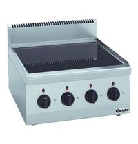 Bartscher Fornuis elektrisch keramisch TA 4 kookpitten | 2x 2,5 - 1x 1,8 - 1x 1,2 kW/h | 600x600x290(h)mm