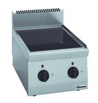 Bartscher Fornuis elektrisch keramisch TA 2 kookplaten | 1x 2,5 - 1x 1,8 kW/h | 400x600x290(h)mm