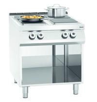 Bartscher Fornuis elektrisch 4 kookplaten   4x 4 kW/h   Open onderstel   800x900x900(h)m