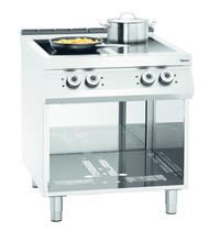 Bartscher Fornuis elektrisch inductie 00 4 kookplaten | 4x 5kW/h | Open onderbouw | 800x900x900(h)mm