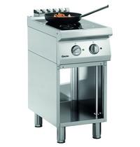 Bartscher Fornuis elektrisch inductie 2 kookplaten   2x 5 kW/h   Open onderstel   400x700x850(h)mm