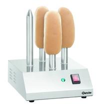 Bartscher Hotdogspiestoaster T4 elektrisch | 230V | Cap. 4 stuks | 240x280x310(h)mm