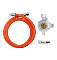 Bartscher Gas aansluit set | Alleen voor buiten gebruik | 64x180x35(h)mm