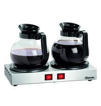 Bartscher Kanwarmer WP-K200 | 2 warmhoud platen Ø120mm | 230V | 358x210x70(h)mm