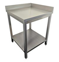 Diamond Werktafel 90° met 2 opstaande randen   700x700x880/900(h)mm