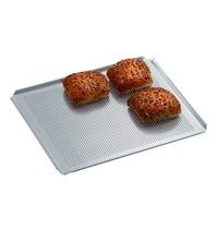 Bartscher Bakplaat geperforeerd aluminium 2/3 | 4 zijden met opstaande rand | 354x325x10(h)mm