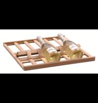 Bartscher Wijnpresentator hout  2Z | Cap. 6 flessen | 505x534x33(h)mm