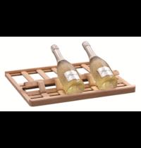 Bartscher Wijnpresentator hout 2Z | Cap. 6 flessen | 506x438x30(h)mm