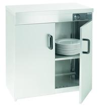 Bartscher Warmhoudkast RVS | 2 deuren | Cap. 110-120 borden | 230V | 750x495x855(h)mm