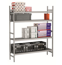 Bartscher Reksysteem kit 3 | 4 schappen | 1/1-1/2-1/3-2/3 GN | 1500x360x1800(h)mm