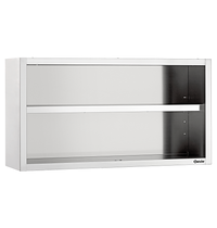 Bartscher RVS open wandkast | 1 verstelbare tussenschap | 1000x400x660(h)mm