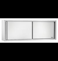 Bartscher RVS wandkast met schuifdeuren | 1 verstelbare tussenschap | 1400x400x660(h)mm