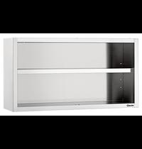 Bartscher RVS open wandkast | 1 verstelbare tussenschap | 1800x400x660(h)mm