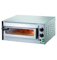 Bartscher Pizzaoven elektrisch Mini Plus RVS | 1x Ø35 cm | 1 kamer | 2 kW/h | Bodem met hittebestendige steen | 575x525x270(h)mm