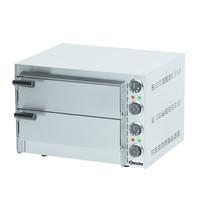 Bartscher Pizzaoven elektrisch Mini | 1x2 Ø35cm | 2 kamers | 2,7 kW/h | Bodem van hittebestendige steen | 545x500x380(h)mm