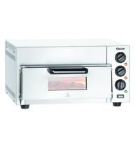 Bartscher Pizzaoven ST415 | 1x Ø40 cm | 1 kamer | 2 kW/h | Bodem met hittebestendige steen | 565x585x265(h)mm
