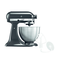 KitchenAid Spiraalmixer zwart 4,28L | Kantelbare kop + afneembare kom | 230V | 358x221x353(h)mm