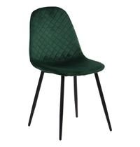 Luxus Eetkamerstoel velvet groen   Zithoogte 46cm